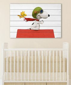 Peanuts by Charles Schulz Peanuts Snoopy Flying Wall Art   zulily