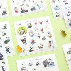 South Korea LIVEWORK funny eighth season lovely creative decorative sticker set into 10 pieces KL