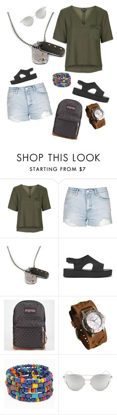 """Untitled #639"" by clothes-wise ❤ liked on Polyvore featuring Topshop, Melissa, JanSport, Nemesis and Chicnova Fashion"
