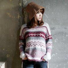 it's girl - Patterned Dip-Back Knit Top