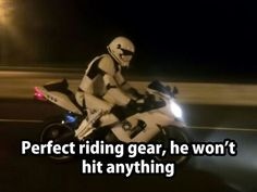#perfect #riding #gear he won't hit anything #LetsGetWordy #starwars #stormtrooper #motorcycle