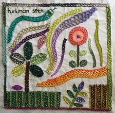 TAST Turkman Stitch Embroidery Sampler | Mostly Knitting Blog