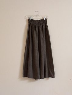 """sold. plaid  shirred waist  wide leg  cotton pants waist/hip 56"""" room  by annyschooecoclothing,"""