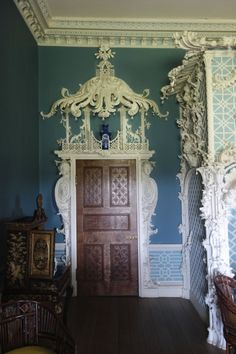 The Chinese Room in Claydon House is the most elaborate Chinoiserie interior surviving in Britain. Decoration, Art Decor, Home Decor, English Interior, Chinoiserie Wallpaper, Asian Decor, Design Furniture, Wall Treatments, Family Room