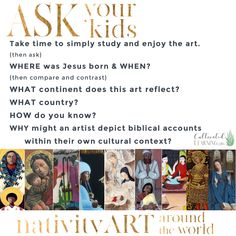 Stunning Nativity Art from Around the World - Cultivated Learning Huron Carol, Where Is Jesus, The Birth Of Christ, Stencil Printing, Christian Messages, Christmas Activities For Kids, Compare And Contrast, Madonna And Child, National Gallery Of Art