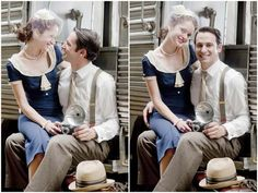 Vintage Railroad Inspired Engagement Shoot - Inspired By This