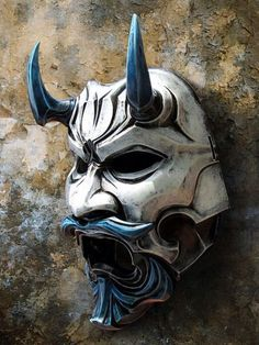 Japanese Mask - Uncle Oni Mask 311 Japanese Noh Style Fiberglass 2 by TheDarkMask Ronin Samurai, Samurai Art, Mascara Hannya, Oni Maske, Samourai Tattoo, Old Poster, Japanese Mask, Sculptures Céramiques, Cool Masks