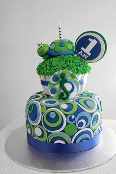 Turtle theme party on Pinterest   Turtles, Turtle Birthday Cakes ...