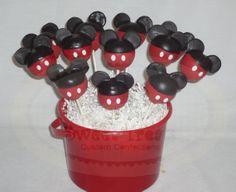mickey cake pops by SweetTreatsSJ on Etsy, $35.00