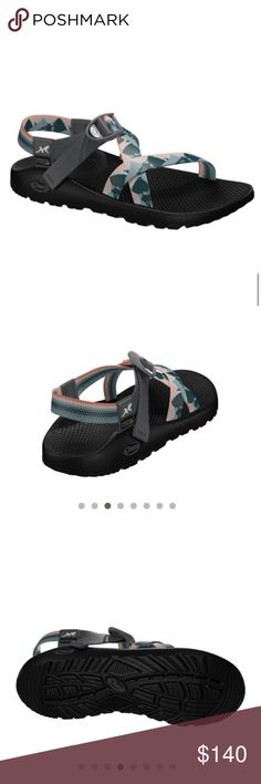 """NEVER WORN CHACOS Ok y'all so I just custom ordered these online and they are tad too big for me so I'm going to get different ones. I only wore them once around the house for a day. I custom ordered them to an women's 8 wide, meaning these are like 1/4 inch wider than the """"normal ones"""". Chacos in general are my favorite type of shoe though. If you haven't owned a pair before, you need to. Chaco Shoes"""