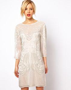 Baroque Embellished Dress - Lyst