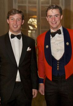 (L-R) Prince Sébastien of Luxembourg and Prince Wenceslas of Nassau
