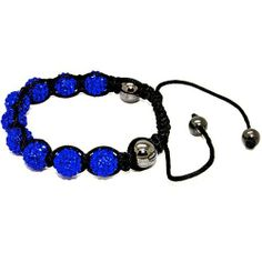 Blue Chip Unlimited - Trendy Royal Blue 10mm Pave Crystal Bead Shamballa Bracelet Fashion Jewelry Blue Chip Unlimited. $24.95. 10mm pave crystal disco ball beads. unisex hip hop bracelet. symbolizes peace, tranquility, happieness & oneness. macrame toggle lock. heavy duty adjustable nylon cord. Save 75% Off!
