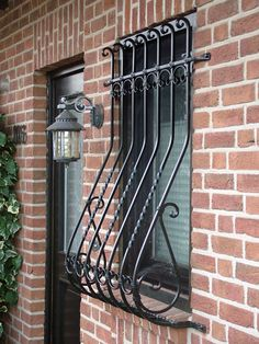 Iron Window Grill, Window Grill Design Modern, House Window Design, Door Design, Iron Windows, House Windows, Home Building Design, Home Room Design, Window Security Bars
