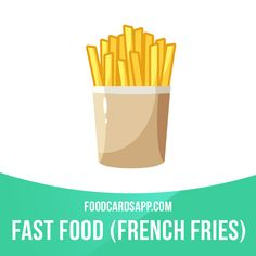 Americans eat more than 16 pounds of French fries every year.  #english #englishlanguage #learnenglish #studyenglish #language #vocabulary #dictionary #englishlearning #vocab #food #fastfood #junkfood #frenchfries