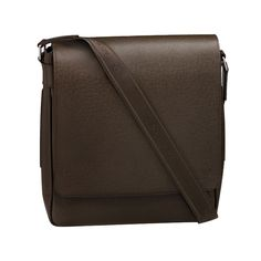 bec852af650 ... messenger bag in supple Taiga leather. With a distinctive embossed  grain and a generous interior