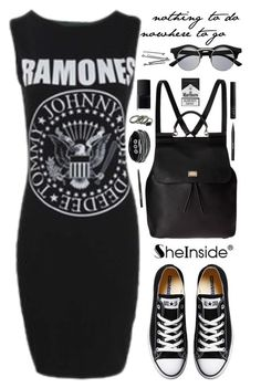 """""""SheIn 3"""" by scarlett-morwenna ❤ liked on Polyvore featuring Dolce&Gabbana, Converse, NARS Cosmetics, Stila and BOBBY"""