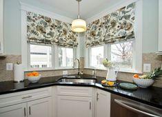 угловое окно кухня шторы - Поиск в Google