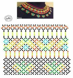 Diy Necklace Patterns, Bead Loom Patterns, Jewelry Patterns, Beading Patterns, Seed Bead Jewelry, Bead Jewellery, Beaded Jewelry, Beaded Crafts, Beading Techniques