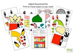 Pokemon Collection Favor Bags Instant by SimplyMadewithSam on Etsy Pokemon Birthday, Pokemon Party, 8th Birthday, Birthday Parties, Pokemon Collection, Super Hero Costumes, Printable Paper, Favor Bags, Baby Shower Games