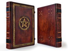 The Great Grimoire, Necronomicon, 12 x 9 inches, leather journal, book of shadow, with gift box