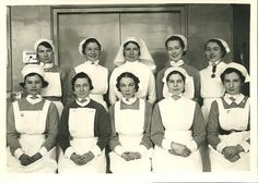 Theatre Nurses 1930s/40s    One of a nice couple of Photos which may be from one of the London hospitals,possibly St Bartholomew's as several wear the badge of their Nurses League.Other nice badges include the Charing Cross and Queen Mary's Hospital for the East End medals and West London Hospital Badge