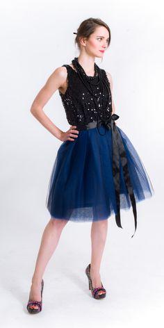dark blue Tutu, Dark Blue, Ballet Skirt, Skirts, Fashion, Moda, Deep Blue, Fashion Styles, Skirt