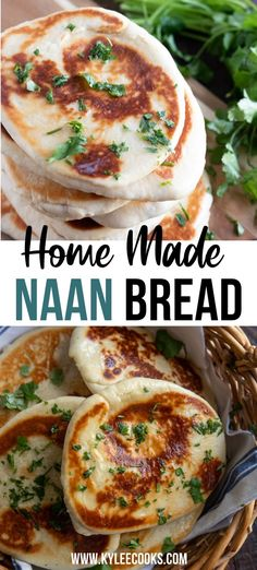 Homemade Naan is the best kind of Naan!! Mix it up and make garlic naan, or keep it plain. Either way, it is a GREAT side dish for Indian food, and makes an amazing pizza base, too! Make Naan Bread, Recipes With Naan Bread, Best Bread Recipe, Flatbread Recipes, Bread Making, Vegan Recipes Easy, Indian Food Recipes, Ethnic Recipes, Baking Recipes