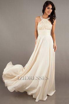 Sheath/Column Halter Chiffon Prom Dress - IZIDRESSES.com