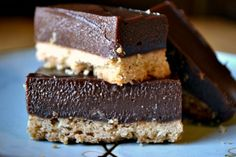 a rich chocolate and dulce de leche custard on top of shortbread crust;  little bars are crunchy on the bottom and soft, almost chewy on top; a perfect combination with a saltiness from the shortbread bottom and the earthy texture and taste of the chocolate and caramel