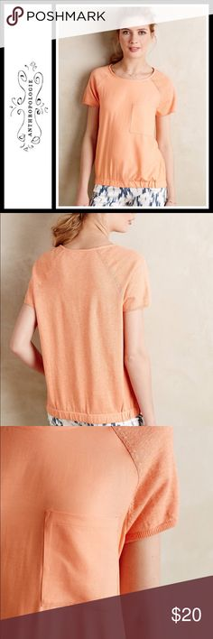 Anthropologie Banded Pocket tee Perfect condition - maybe worn like twice, size medium - from anthropologie brand Moth Anthropologie Tops
