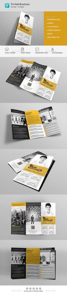 Corporate Bifold Brochure Brochure template, Brochures and Psd - company brochure templates