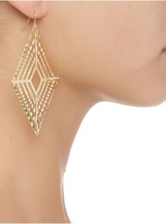 Geometric drop earrings Gold 38