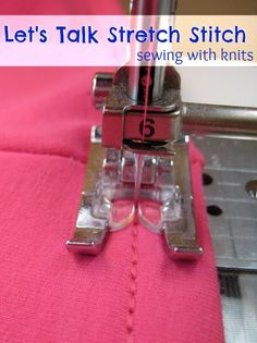 Let's talk about the stretch stitch. A great stitch to use when sewing with knits on a standard sewing machine. Great for hems and joining seams.