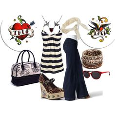 Tattoo-inspired rockabilly chic outfit