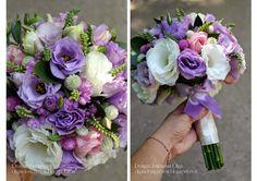 Baiciurina Olga's Design Room: Розово-сиреневый букет невесты.-Violet&Pink wedding bouquet