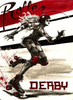 Roller Derby Art