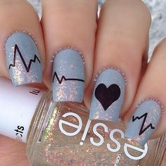 Nail Art Designs with Hearts picture1