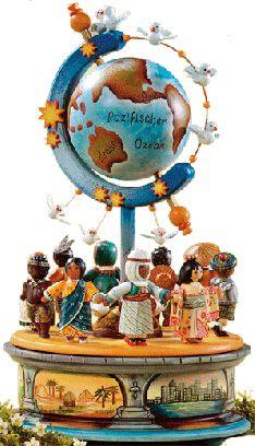"""Sammlerfiguren """"Kinder der Welt"""" Spieldose"""