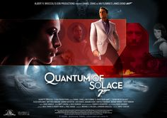 'Quantum of Solace' - Poster 3 James Bond Movie Posters, James Bond Movies, Rory Kinnear, David Arnold, Claudine Auger, Film Base, Daniel Craig, Digital, Music