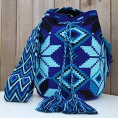 Check out our wayuu mochila bags selection for the very best in unique or custom, handmade pieces from our handbags shops. Mochila Crochet, Crochet Tote, Crochet Handbags, Tunisian Crochet, Crochet Purses, Crochet Stitches, Knit Crochet, Crochet Patterns, Tapestry Bag