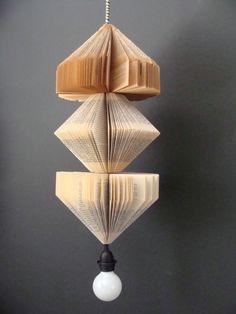Love this!!!!!Pendant Lighting Fixture, Upcycled Vintage Books. $125.00, via Etsy.