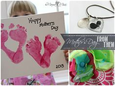 Mother's day: From Dad and The Kids {last minute quick crafts} from Mama Miss
