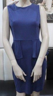 Modré puzdrové šaty s volánikom okolo pasu / OutletModa - outlet moda, ...