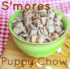 s'mores puppy chow.  Made this today. It's amazing!