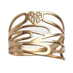 Anel de ouro com zircônia