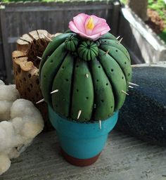 Polymer clay Cactus by MandarinMoon, via Flickr