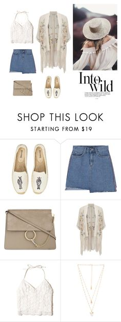 """""""Adventure time"""" by dorey on Polyvore featuring Soludos, Anja, Chloé, Miss Selfridge, Hollister Co. and Natalie B"""