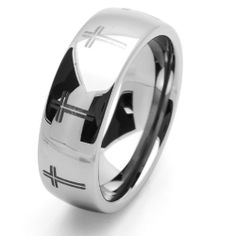 Valentines Day 8MM Comfort Fit Tungsten Carbide Wedding Band Cross Engraved For Men & Women (5 to 15) Cobalt Free Double Accent. $19.99. Cobalt Free. Tungsten Wedding Band. Comfort Fit. Prompt Shipping
