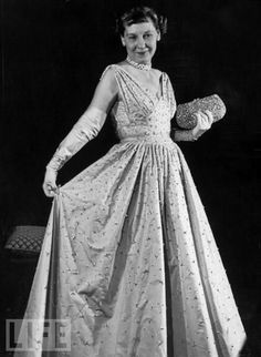Mrs Eisenhower - one of my cousins was on the team that created this inauguration gown.  It is now part of the Smithsonian collection.